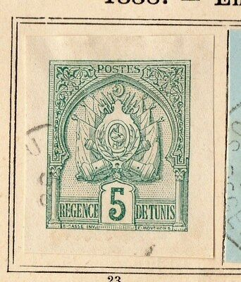 Tunisia 1888 Early Issue Fine Used 5c. Envelope 109925