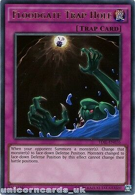 TDIL-EN076 Floodgate Trap Hole Ultra Rare UNL Edition Mint YuGiOh Card