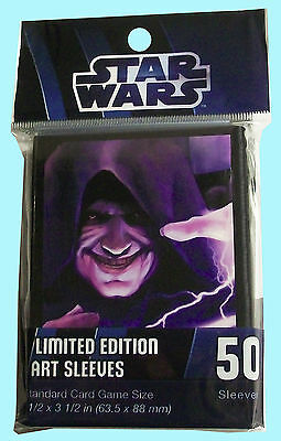 50 STAR WARS FORCE LIGHTNING Card Sleeves NEW Deck Protector fantasy flight game
