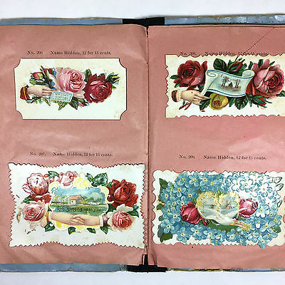 Vintage Victorian Greeting Cards Sample Book Ohio Card Company
