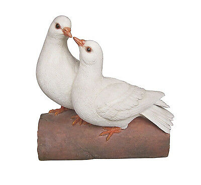 Vivid Arts - REAL LIFE BIRDS - Pair Of Love Doves British Bird