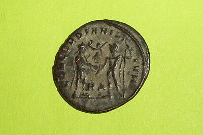 Authentic ROMAN COIN victory globe GALERIUS mythology Jupiter old mythology VF