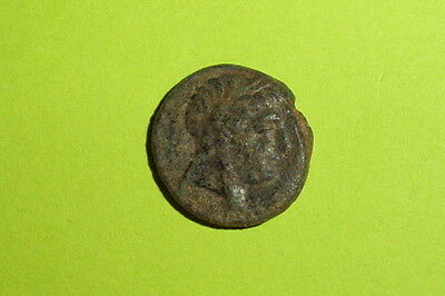 RARE Ancient SELEUCID COIN apollo ANTIOCHUS III 223 BC tripod tool Greek VG old