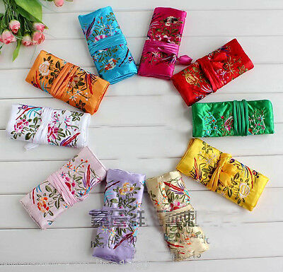 WHOLESALE 5PCS CHINESE CLASSIC HANDMADE Silk BROCADE GIFT JEWELRY BAGS POUCH
