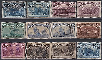 387) Usa 1893  - Columbus  Used Selection - Most Perfect  - See Scans