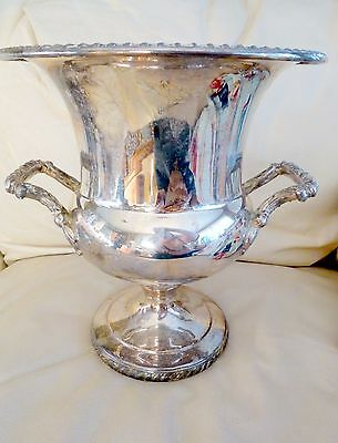Vintage W.M. Rogers Silverplate Wine Cooler Champagne Ice Bucket Bar Party