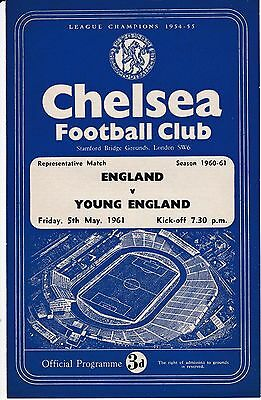 At Chelsea  :  ENGLAND  v  YOUNG ENGLAND  1961.
