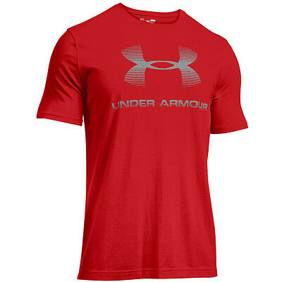 Under Armour Charged Cotton Sportstyle Logo T-Shirt rouge refléchissant