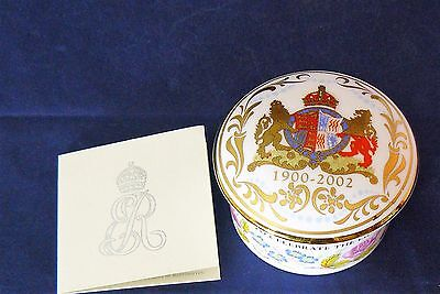 THE ROYAL COLLECTION Porcelain TRINKET BOX - THE LIFE OF THE QUEEN MOTHER - MIB