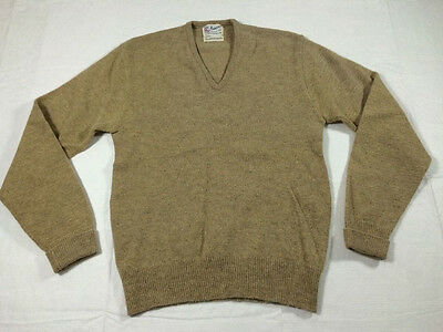 vintage PURITAN men's 100% AUSTRALIAN LAMBS WOOL v-neck SWEATER sz 40