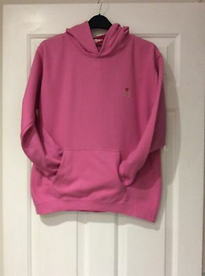 Girls Pink Hooded Sweat Top Age 12-14 Yrs