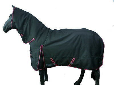 """Protuff Turnout rug 250g Combo 1200d Fixed neck top quality horse rug 6'9""""'"""