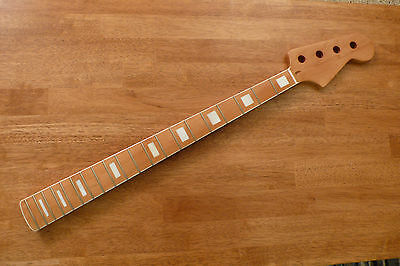 Bass Neck Maple Mother Of Pearl Block Inlays For Jazz Or Precision Basses