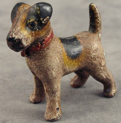 FOX TERRIER DOG Cast Iron MINIATURE STATUE PAPERWEIGHT