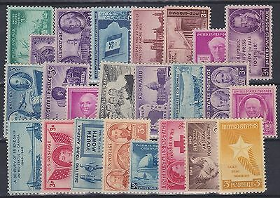 403) Usa   1946 / 1948   Mint Never Hinged Selection   - Perfect