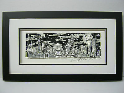 "Charles Fazzino 3D Art "" UFO Over New York "" Signed & Numbered Edition Framed"