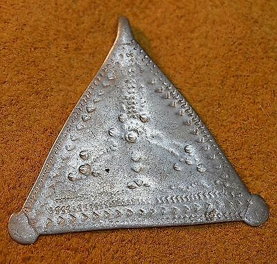Antique Nomadic Tuareg Tribal Metal Triangle Amulet Pendant ~ Niger, Africa