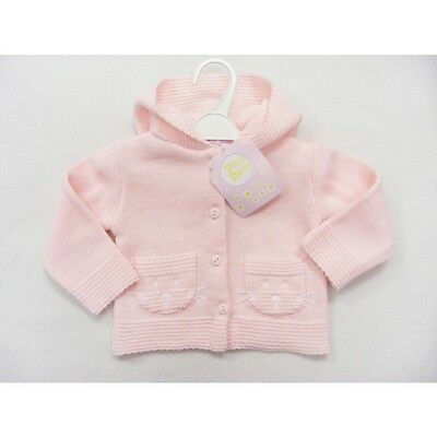 Girls Hooded Knitted Cardigan/Jacket 0-6 6-12 12-18 Months Designer Dizzy Daisy