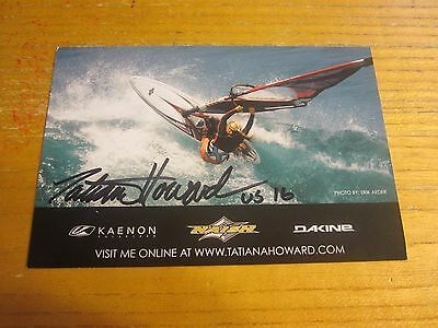 Tatiana Howard Autographed/Signed 4X6 Photograph Windsurfing