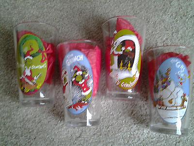 GRINCH THAT STOLE CHRISTMAS set of 4 PINT HOLIDAY DRINKING GLASSES by VANDOR WOW