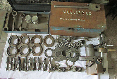 Mueller B-100, No. 1 Drilling & Tapping Machine With Lots of Accessories & Case
