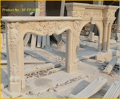 Customize Your Own Personalized Size NATURAL Marble fireplace@PLS ASK PRICE@