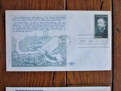 Whale Moby Dick Herman Melville 1984 Very Scarce Educachets Cachet Fdc