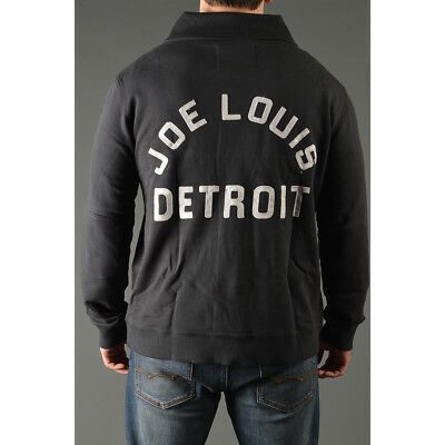 Roots of Fight Joe Louis Throwback Button-Front Cardigan - Black