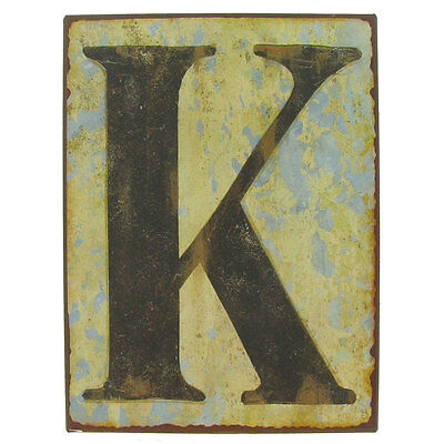 """Beautiful 9 1/2"""" Rustic Iron Wall Letter - K. Rustic Vintage  Charm decor sign"""