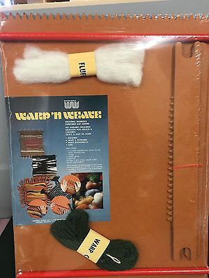 "Vintage Warp N Weave Portable Lap Loom SEALED 17"" x 23"" No Assembly Required"