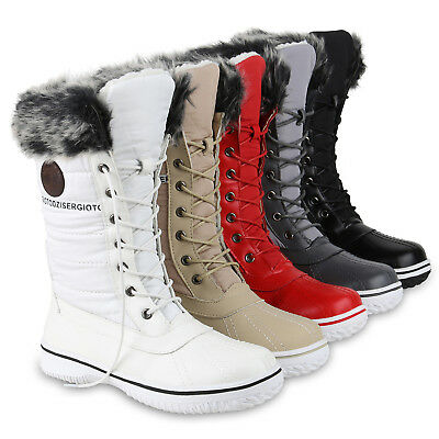 damen waterproof warme boots winter gef ttert kunstfell winterstiefel schuhe eur 19 99. Black Bedroom Furniture Sets. Home Design Ideas
