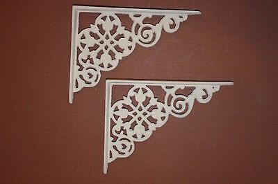 "(4) Pcs, Pennsylvania Dutch Style Home Decor Cast Iron Shelf Brackets, 7""+, B-30"