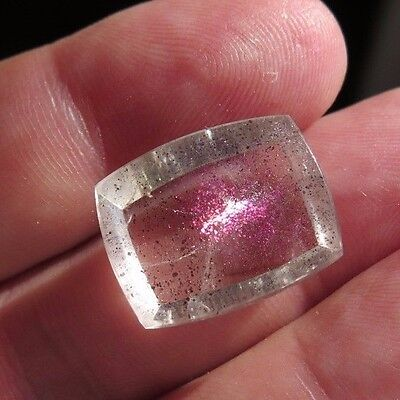 17.43 cts. PINK FIRE QUARTZ CRYSTAL GEMSTONE WITH RARE COVELITE INCLUSIONS Y368