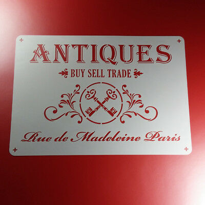 A4 Schablone Antiques Buy Sell Trade Vintage - BS428