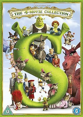 Shrek 1 2 3 & 4: The Whole Story - Complete Box Set Collection | New | DVD