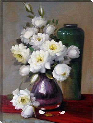 Painting by Number kit The Blooming Flowers Floral A Vase of Flowers DIY HT7067