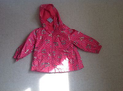 New With Tags Red Wellington Boots Print Rain Coat By Next In Size 3 To 4 Years