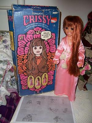 Rare Ideal Crissy Talky Doll Speaks 12 Phrases Original Box Pink Outfit