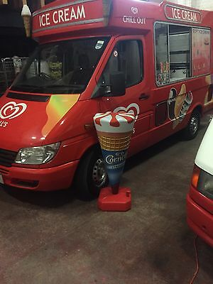 Wall's Cornetto  Cone Whippy Ice Cream Sign Board - Retail - Shop - Advertising