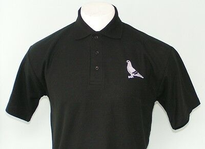 Personalised polo shirt with Pigeon design