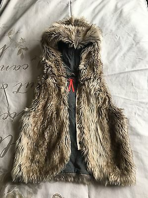 Girls Faux Fur Gullet Age 10 Yrs From Next Great Condition!!
