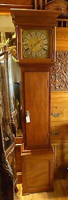 18th Century Brass Faced 8 Day Longcase In Later Bespoke Mahogany Case Full Work