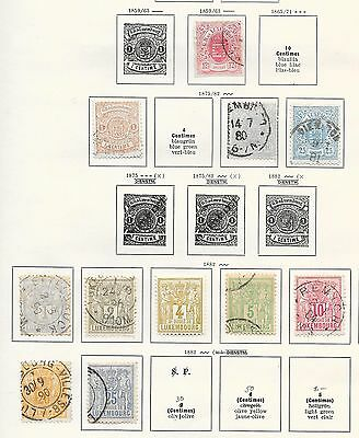 Luxembourg stamps 1859 Collection of 11 CLASSIC stamps   HIGH VALUE!