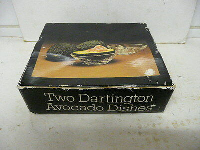 Vintage Dartington Frank Thrower Avocado Dishes Handmade Pair Set of