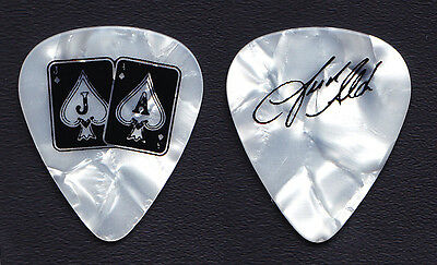 Jason Aldean Signature White Pearl Guitar Pick - 2015 Tour