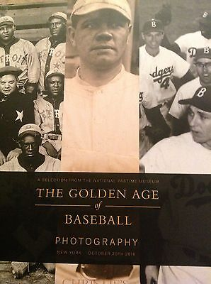 Christies Auction Catalogue The Golden Age Of Baseball Photography 2016