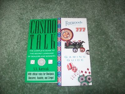 Vintage Lot 2 Casino Talk guide book booklet & Foxwoods resort Gaming guide