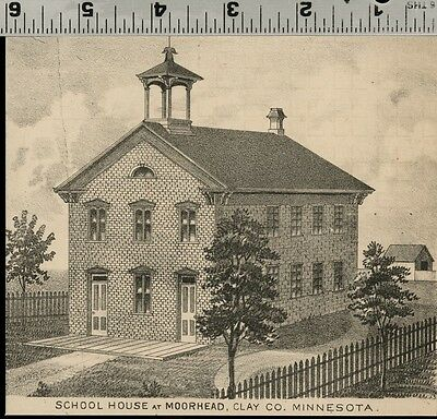 School House at Moorhead, Minnesota: Authentic 1874 View (Small)