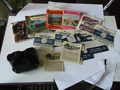 vintage sawyers viewmaster with lots of films rare collection