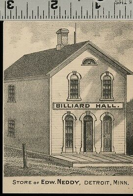 Store & Billiard Parlor in Detroit, Minnesota: Authentic 1874 View (Small)